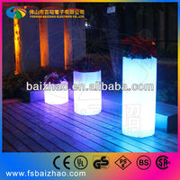 LED hexagon pot table outdoor use