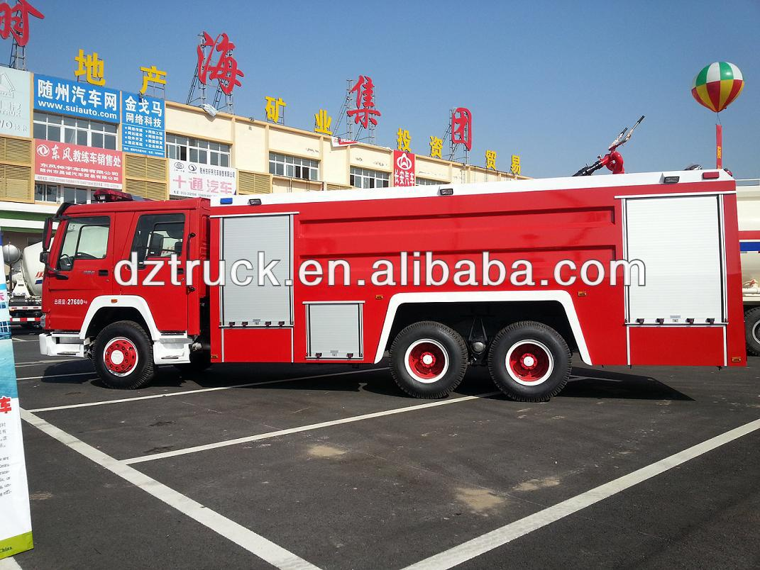China manufacturer SINOTRUK HOWO 6*4 customize foam fire fighting truck for sale