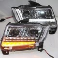 For Jeep Compass 2014-2015 Year LED Head Light Chrome Housing PW