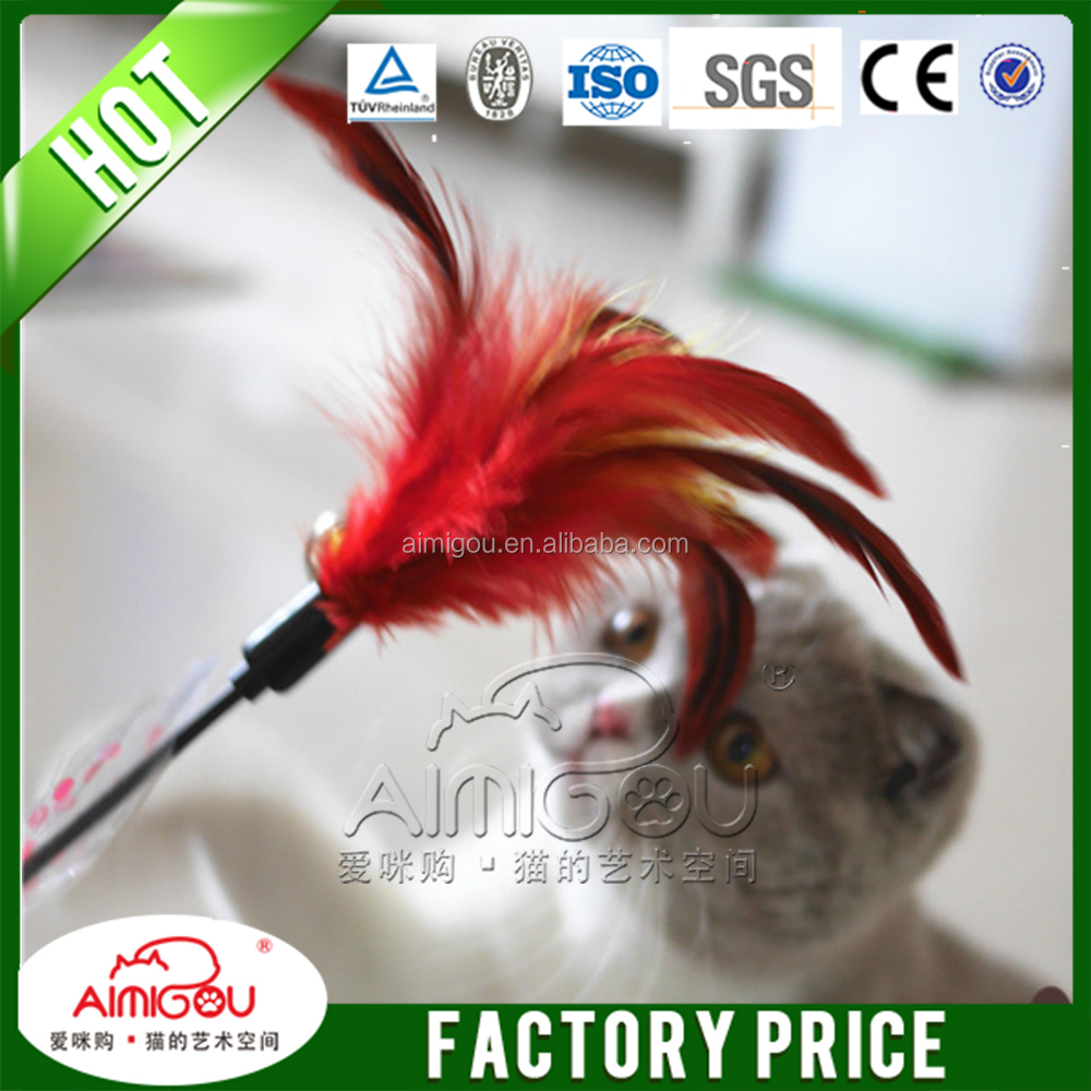 15 Years Factory Feather Cat Teaser Stick Toy Cat Toys/Pet Accessory
