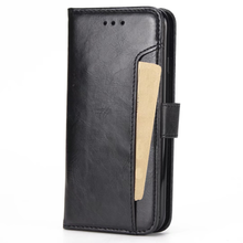 Wholesale leather flip wallet slot mobile phone case for iphone 7