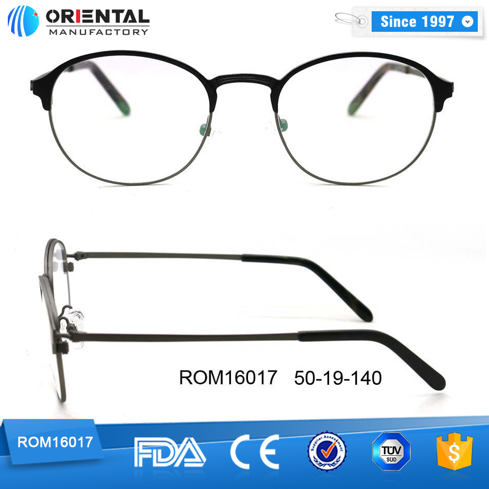 Latest Fashion Reading Glasses High Quality Metal Optical Round Frame