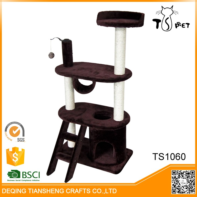 Pet Toys Type And Eco-Friendly Feature Cozy Artificial Cat Trees