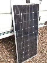 low price per watt mono 100W flexible solar panel with A grade solar