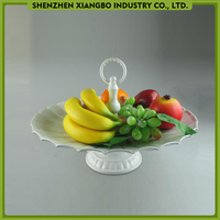 Wholesale metal cake stand/round cake plate/pedestal fruit plate
