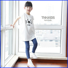 Kid tshirt top fashion girls printed clothing factories in China