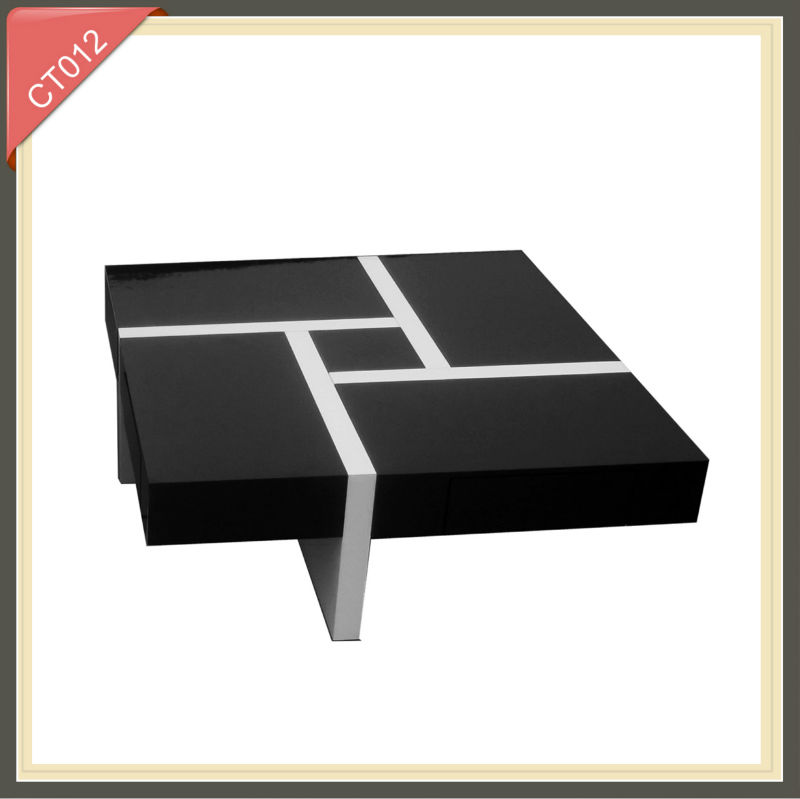 Living Room Furniture coffee table modern exotic coffee table multifunction high gloss coffee table
