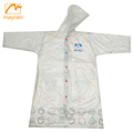 Clothing Clear Plastic Print Reusable Raincoat