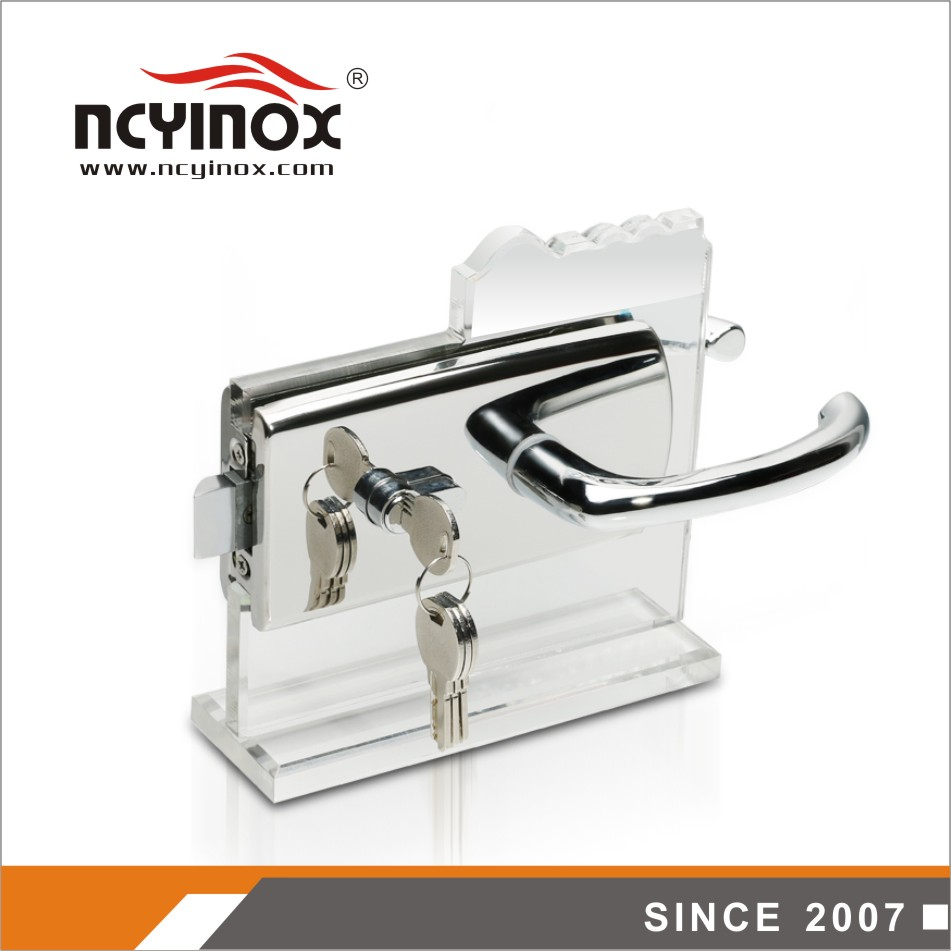 commercial frames stainless steel glass door lock for glass door