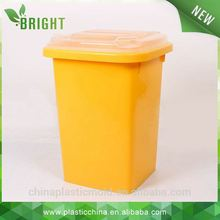 pure color plastic waste container,waste recycling machinery and public dustbin dustbin trash with lid