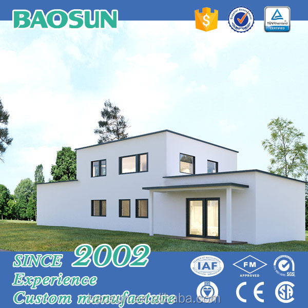 Factory made fast construction modern decoration prefab kit house Europe style