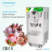 OPH76 Commercial Italian hard ice cream machine/batch freezer for sale