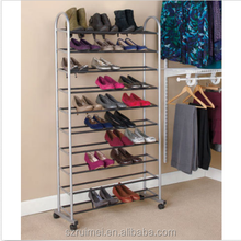 10 tiers 50 pairs shoe tower rack organizer space saving storage