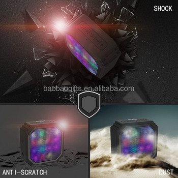 LED light bluetooth speaker subwoofer mini speaker bluetooth mega bass speaker