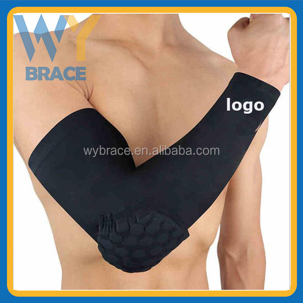 Wholesale sports long sleeve elbow pad arms protector for basketball