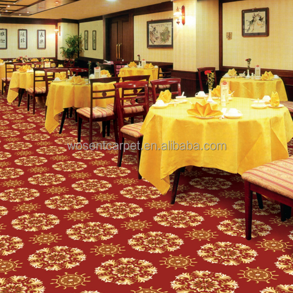 Hotel Restaurant Axminster Carpet Luxury Wall to Wall Axminster Carpet With Design