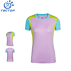 Summer Women's Mix O neck T-shirt Cooldry 100%Polyester