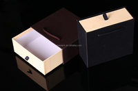 Custom Fashion Paper Gift Packaging Handbag Drawer Box with Handle Wholesale P1931