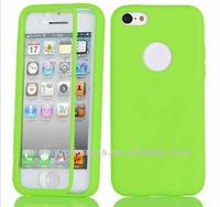 for iPhone 5C Candy TPU Wrap Up Phone Case with Built In Screen Protector Accessory