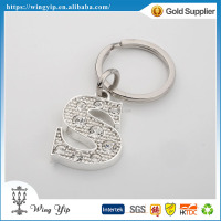 Tailor made good quality Letter S Diamond electroplate Promotion Keychain