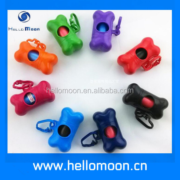 Wholesale Bone Shape Pure Colour Bag Dog Poop Bag Dispenser