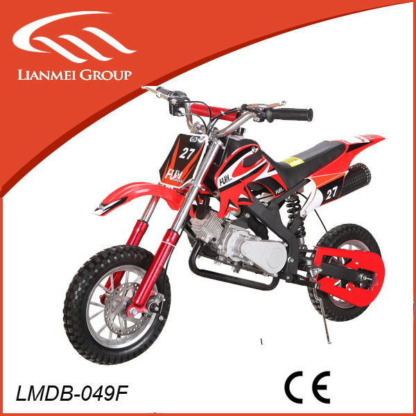 49cc mini cool super sports dirt bike for kids with CE pull start 2 stroke