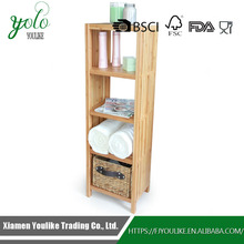 5 tiers Organizing Bathroom Free standing Bamboo bath corner Shelf