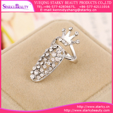 New Arrival Women Fashion Jewelry Silver Alloy Accessories Long Finger Tip Nail Ring Art