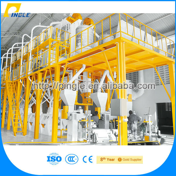Hot Sale Pingle Flour Mill 100T Per Day / Corn Grits Making Machine