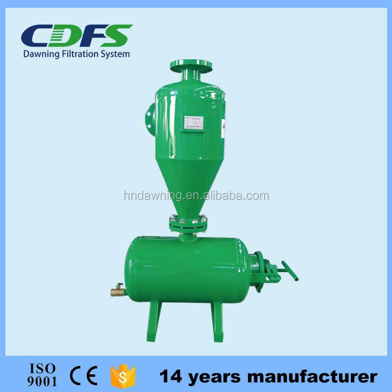 Sand remover metal centrifugal filter for well water