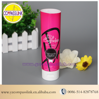 Rose Red Color Offset Cosmetic Tubes With White Flip Cap