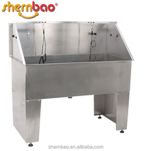Shernbao BTS-136 Factory Supplier step in tub stainless steel pet grooming bath tub