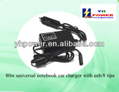 shenzhen 80w car netbook charger adapter for dell