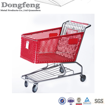 hot sale metal supermarket shopping cart trolley
