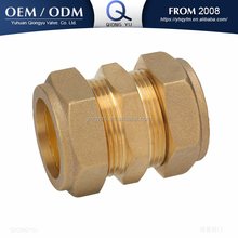 brass compression fitting coupling pipe fitting tube fitting