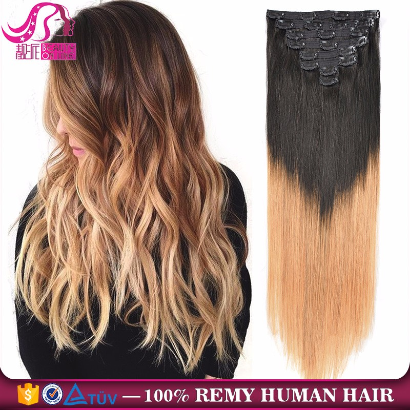 Full Head Premium Double Drawn 220g Remy Clip In Human Hair