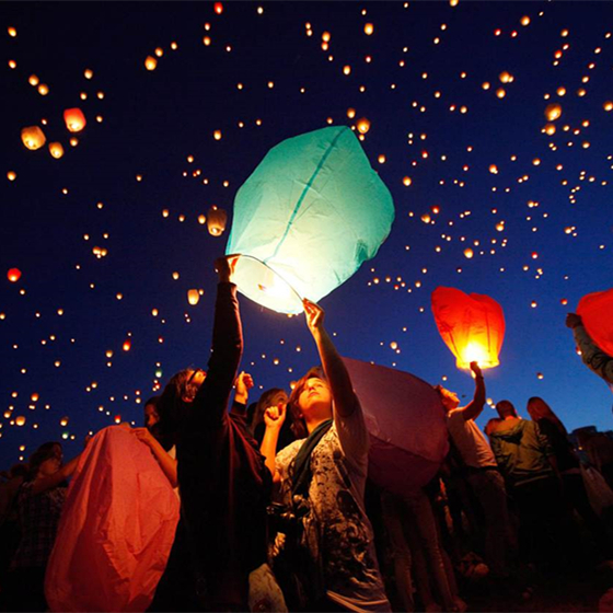 Biodegradable Flying Mini Wishing Balloons Sky Lanterns