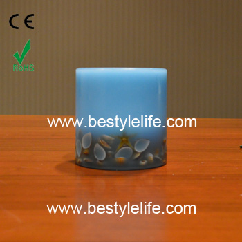 Manufacturer embedded seashell flameless candles with realistic flame