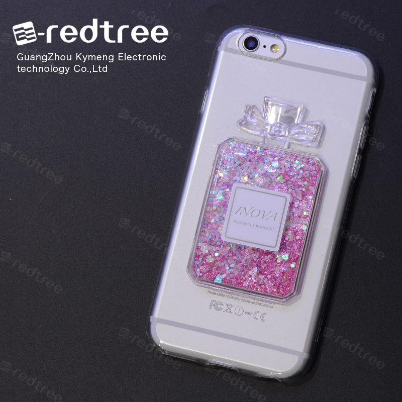 Perfume Para Cellular Star Liquid Flexible TPU Mobile Phone Case Cover for Iphone 4 5s 6s 7