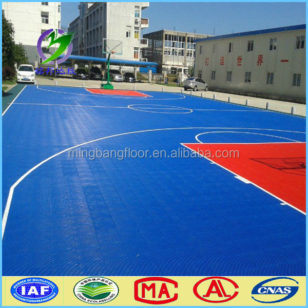 outdoor sports flooring/Modular Tiles/Basketball Court Interlocking Floor