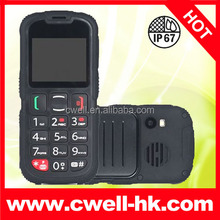 IP67 Waterproof Senior Citizen cell Phone Dual SIM with SOS button