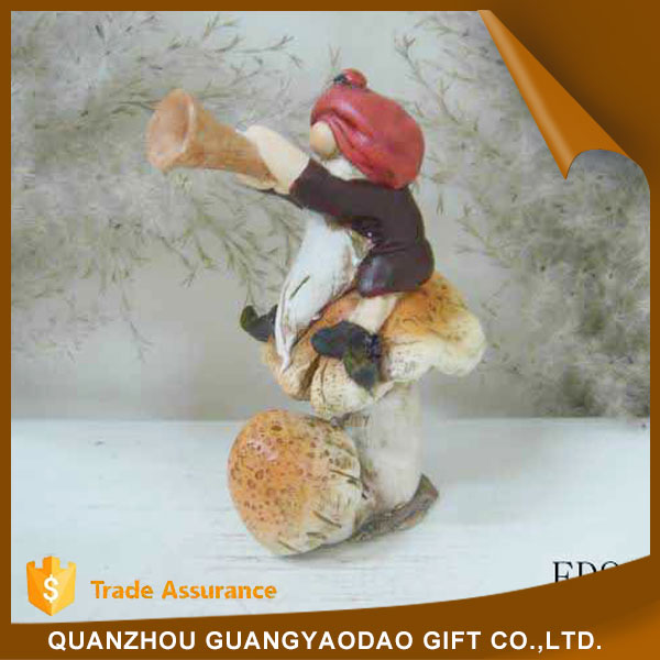 Eco-Friendly grandpa steated on a mushroom souvenir gift item