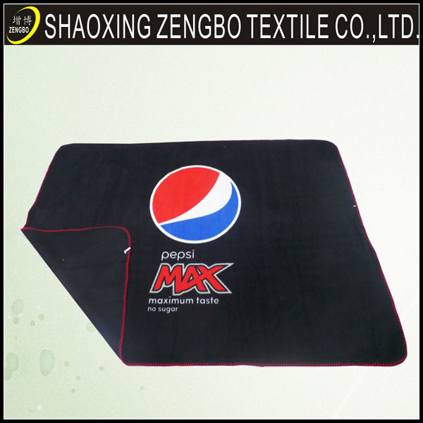 Cheap printed polyester wholesale fleece pepsi blanket