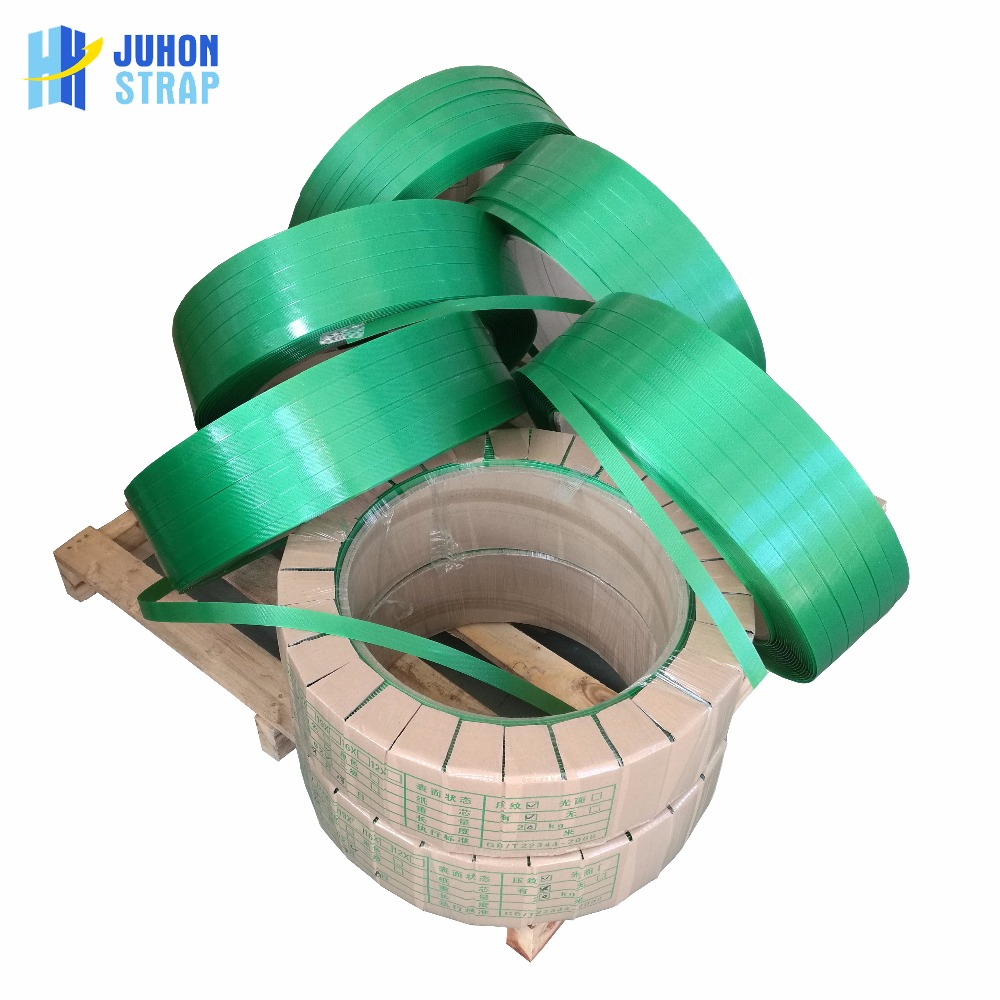 Flexible plastic strap for plywood packing