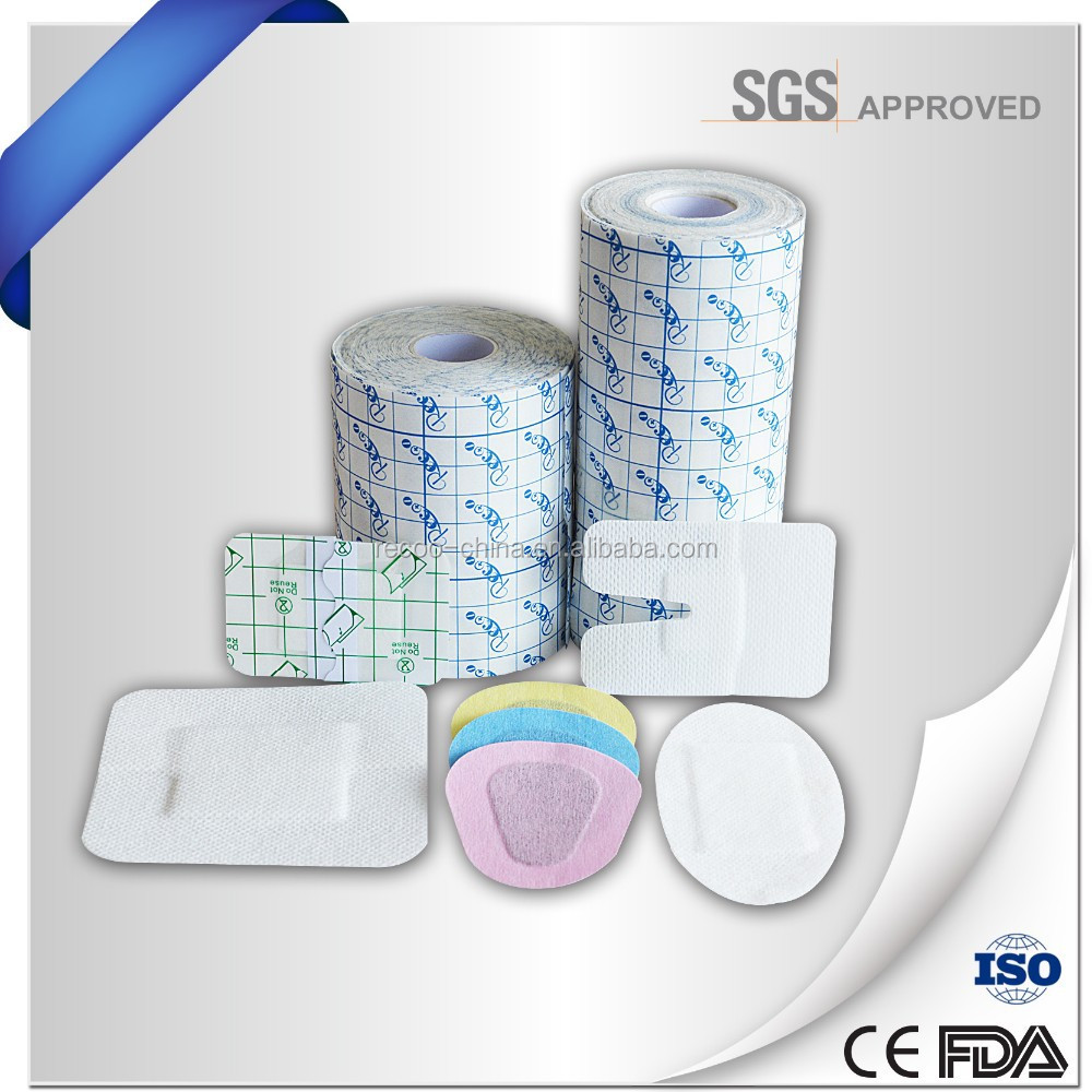 Adhesive medical wound dressing material