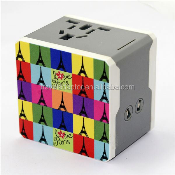 2014 hot sales new promotional gift items protable and fashionable wireless ac dc power adapter 3 pin connector A7