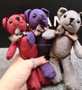 High quality and cheap teddy bear plush keychain toy