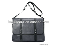 Hot sell fashion top layer cow leather man cross body messenger bag
