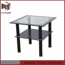 rectangle glass table two tires black painting table