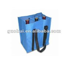 High quality 100% pp Non woven wine bottle carrier bag